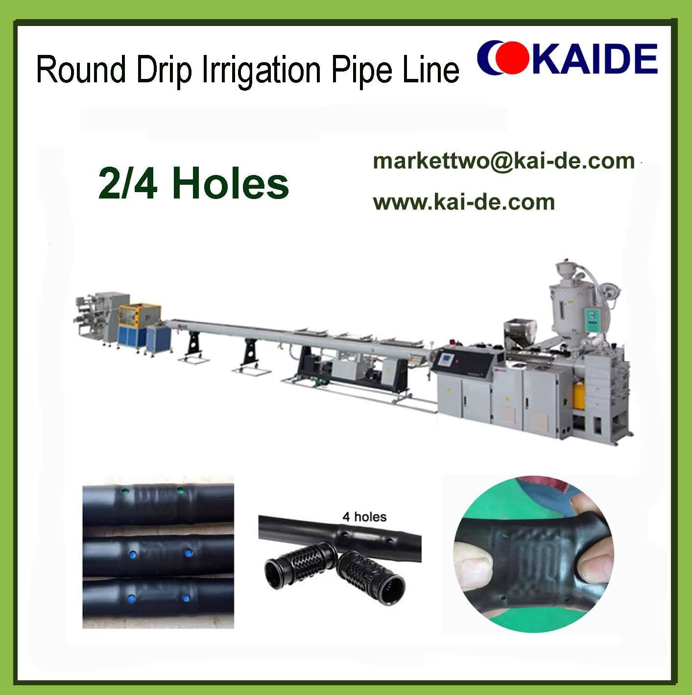 Round Drip Irrigation Pipe Machine with round dripper
