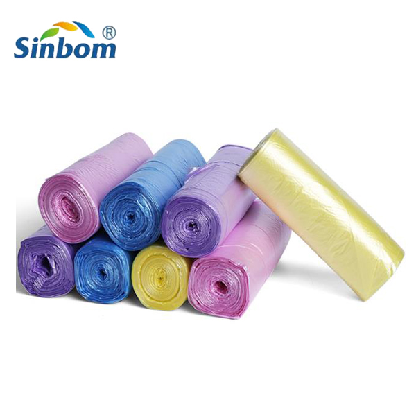 Promotion plastic trash bags garbage bags on roll