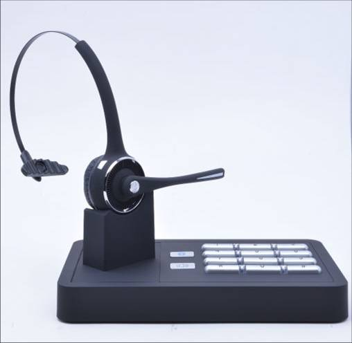 Wireless Headset Bluetooth telephone headset with dialer box