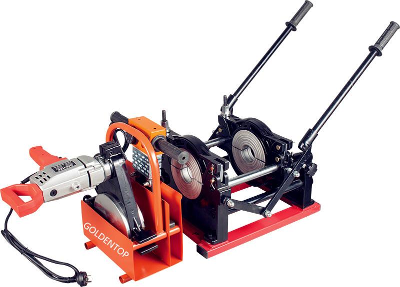 hand push hdpe pipe butt fusion welder machine 63 to 200mm