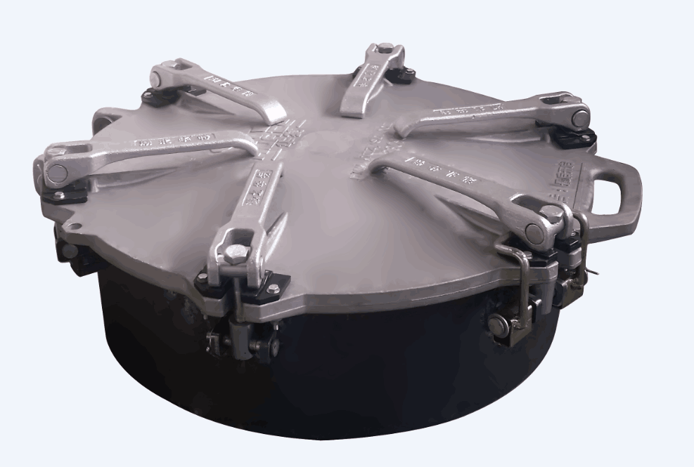 cement truck manhole cover / powder truck cover / mixer truck top cover / cement truck silo hose