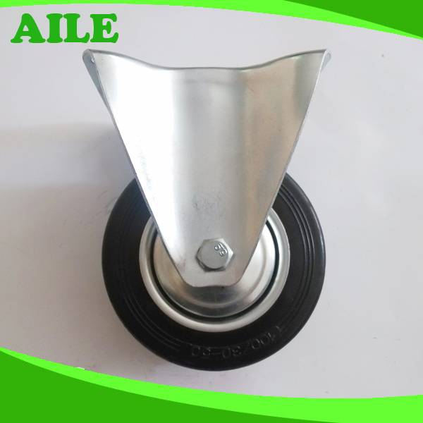 100mm Rigid Rubber Caster