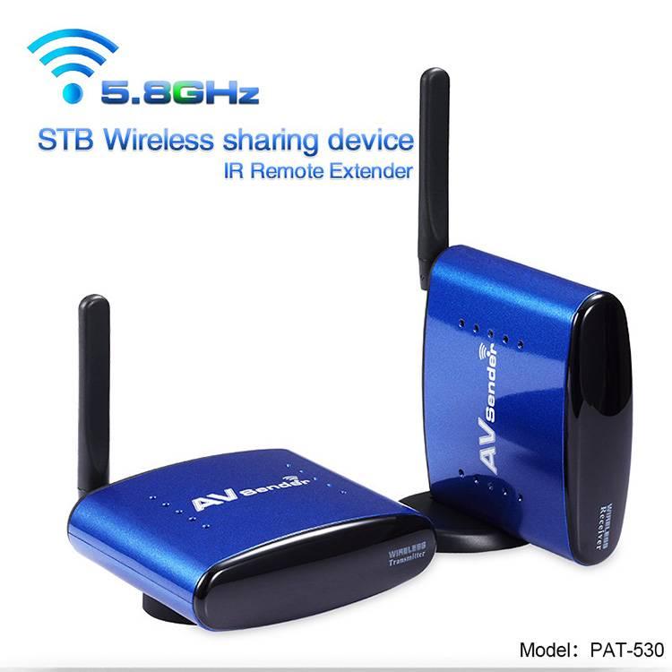 5.8GHz Wireless AV Sender Receiver PAKITE Wirelessly Audio Video Transmit with Long Range