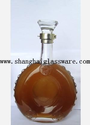 750ml clear flat glass bottle for wine