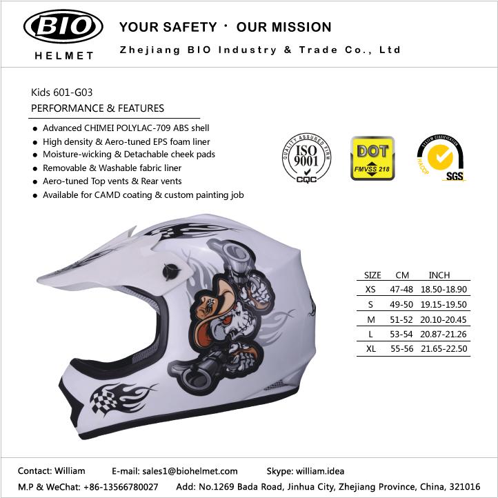 child dirt bike helmet DOT/ECE certificated