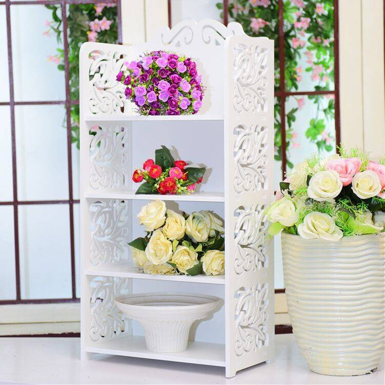 2016 New product wood creative hollow shoe rack