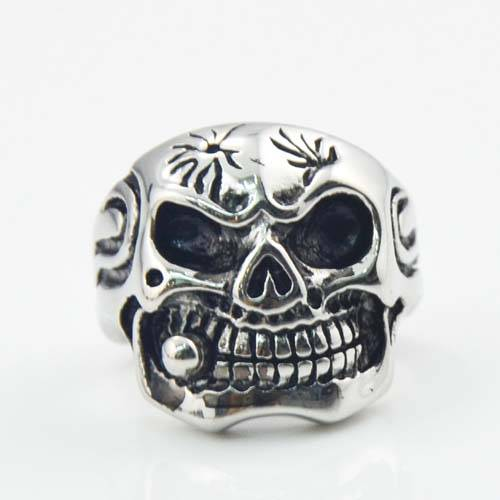 Hot sale stainless steel jewelry skull ring