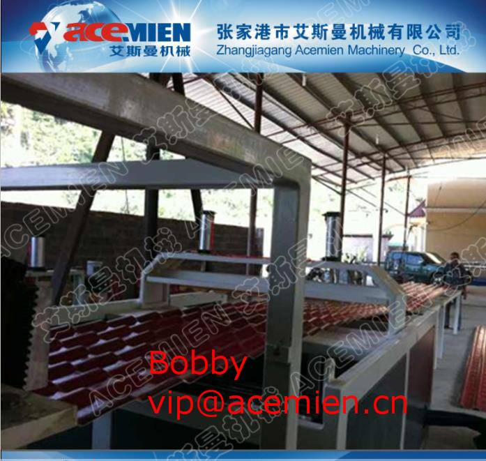 Customized Roof Panel Roll Forming Machine / Glazed Tile Making Machinery 1mm ~ 3mm