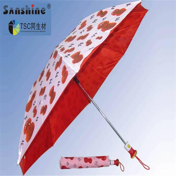 2014 beautiful transparent folding umbrella