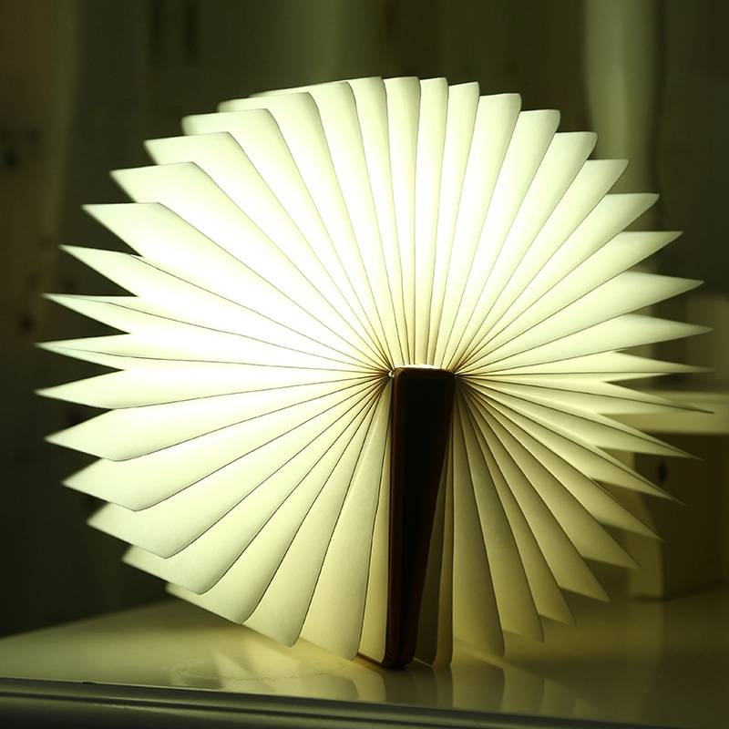 Novelty book shaped lamp Rechargeable Energy Saving LED Light Table Lamp,
