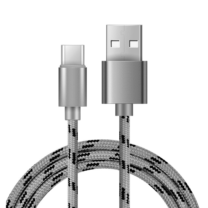 Braided USB 2.0 Type C USB Nylon Charging & Date Syncing Cable