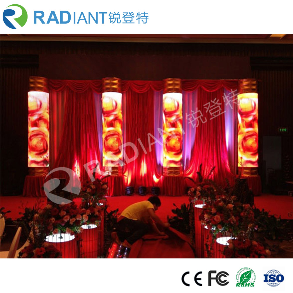 P3 indoor full color soft waves digital flexible led curtain display