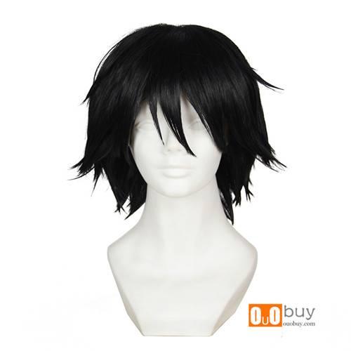 Bungo Stray Dogs Edogawa Ranpo Black Short Turned-Alice Cosplay Wig