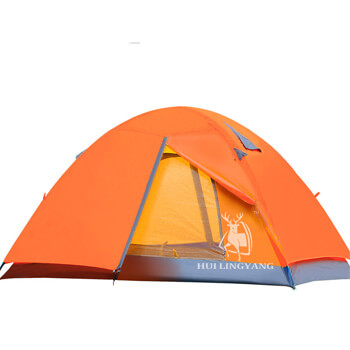 2-3 person waterproof double layer outdoor hiking tent H08