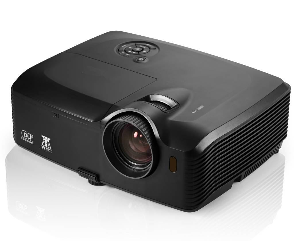 Vivibright 3D Projector Large Venue Projector Native Full HD1080p Outdoor Video Projector office edu