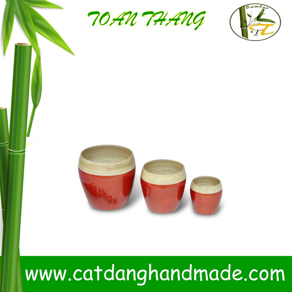 HOT SALE!!!!Set of 3 bamboo lacquer bowls with cheap price(Skype: jendamy, Mob: +84 914542499)