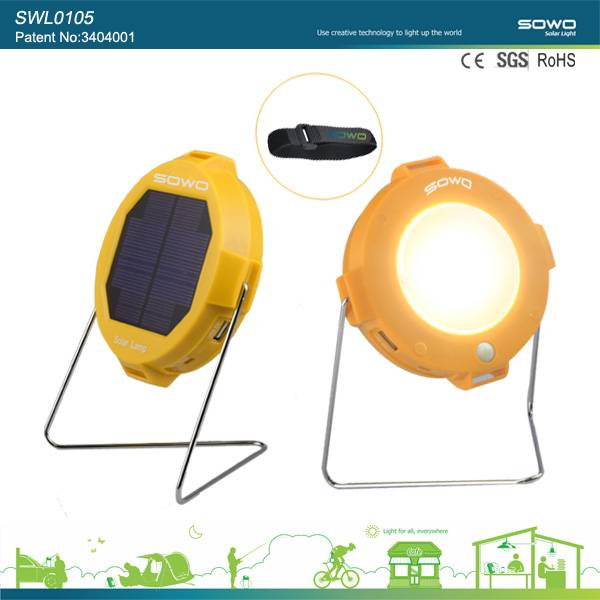 portable indoor outdoor solar light LED