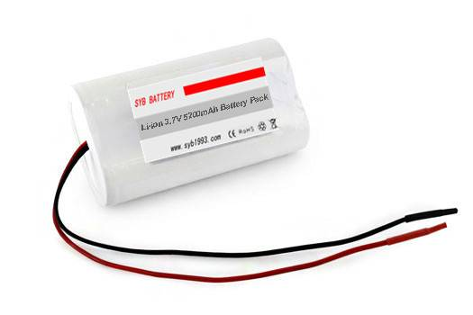SYB Battery Li-Ion 18650 3.7V 5200mAh PCB Protected Rechargeable Battery Module w/ Bare Leads