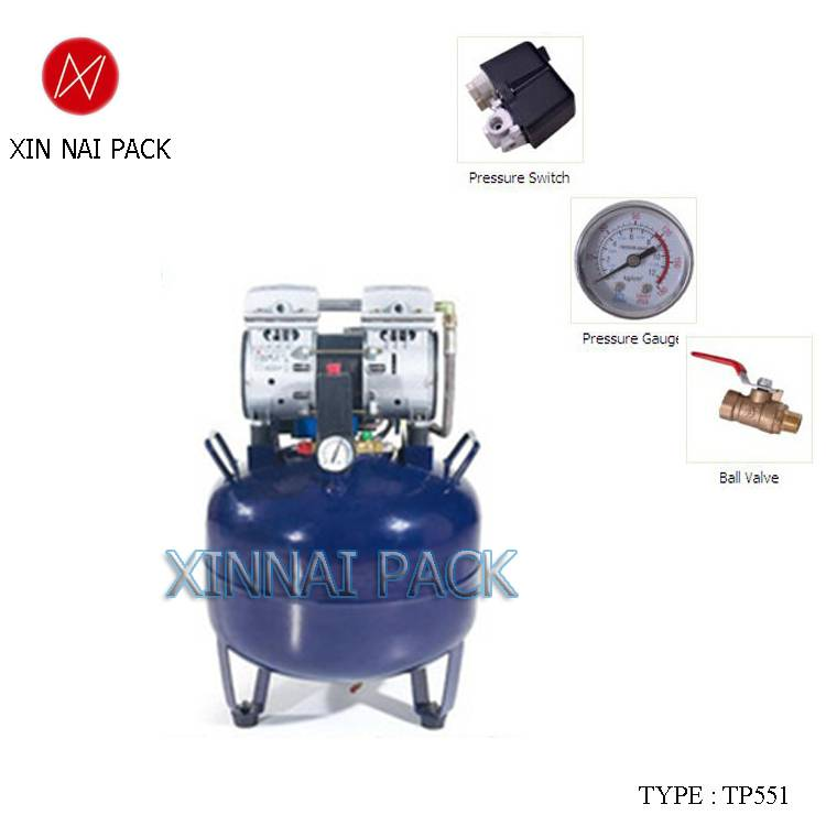 TP551 51db 550W silent oil free air compressor for sale