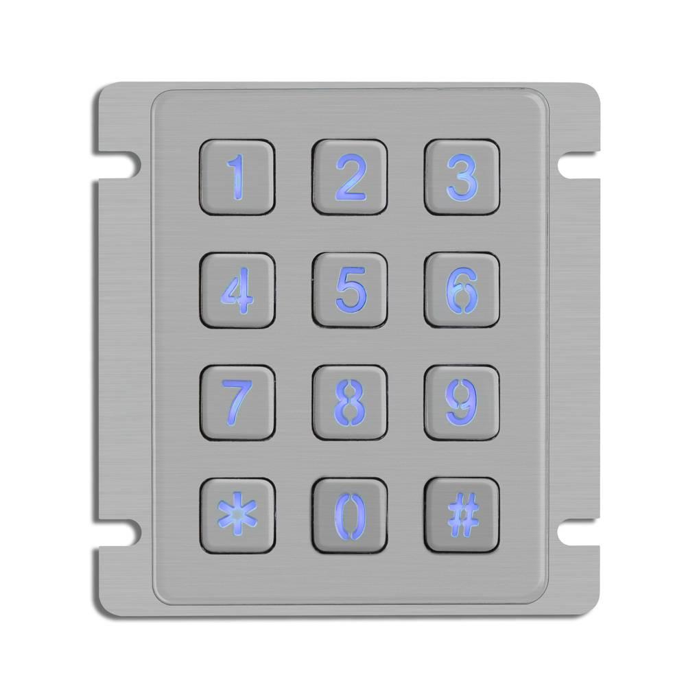 Multifunctional rugged backlit keypad top sale industrial keypad with 12keys mini stainless steel ke