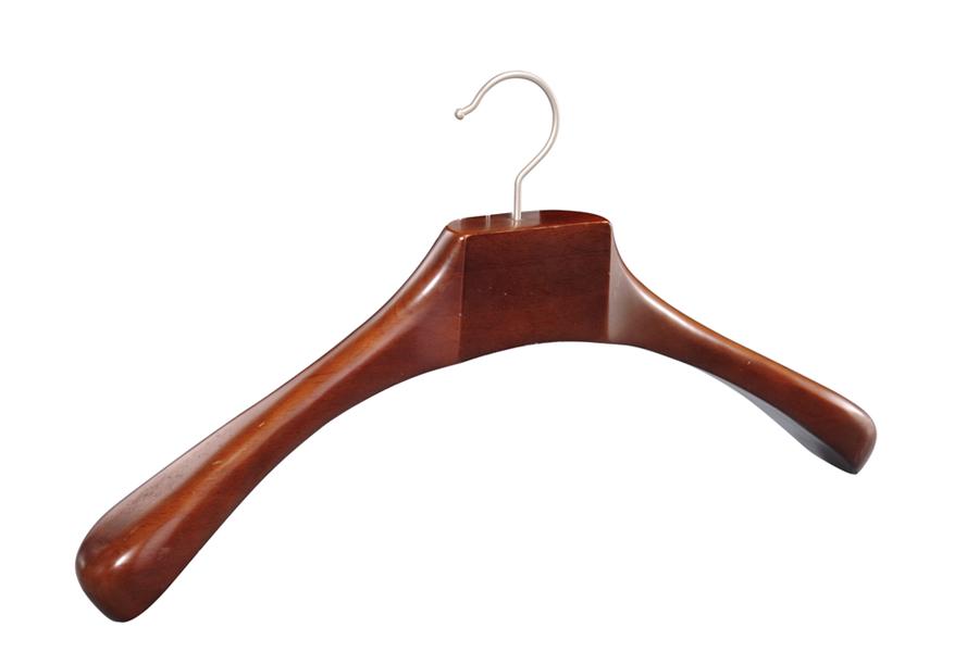 Flat deluxe cloth display coat wooden hangers suit hangers