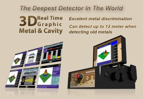 JEOHUNTER 3D DUAL IMAGING SYSTEM METAL DETECTOR