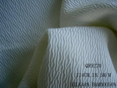 silk/bamboo fabric:QR9220