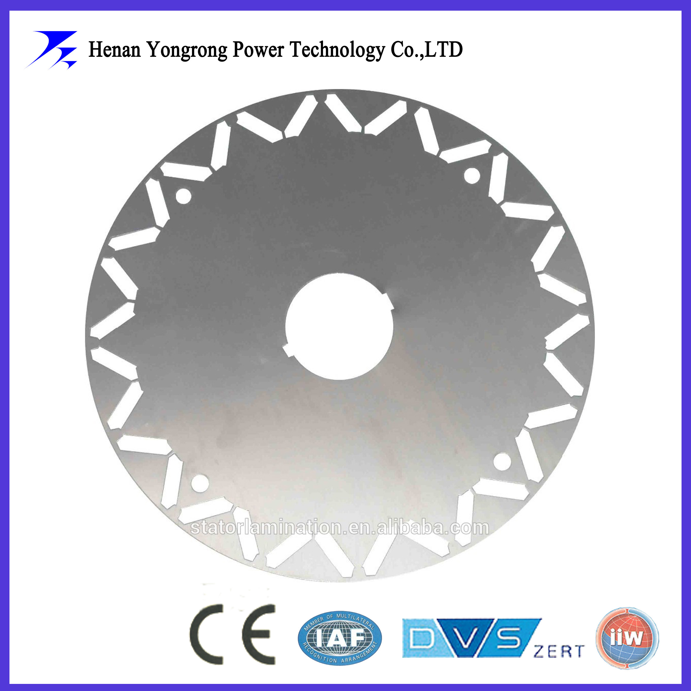 Stator and rotor lamination for permanent magnet motor