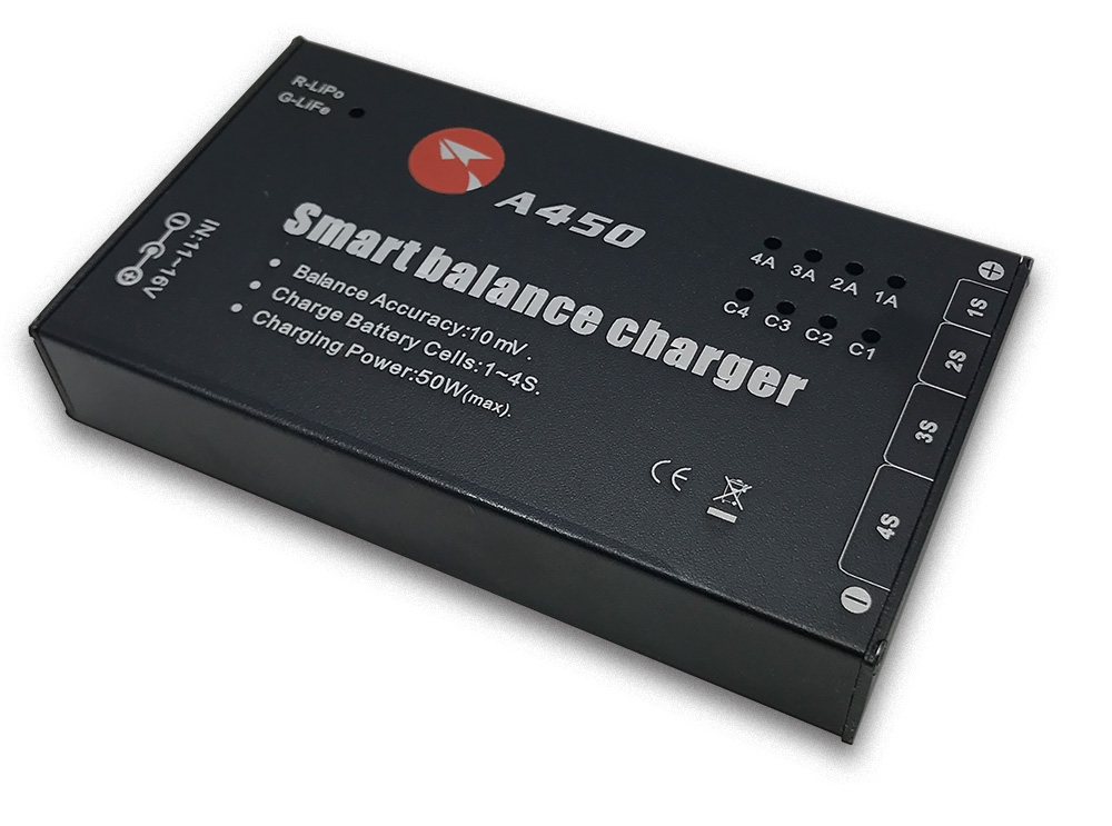 Upgraded ANYQI A450 50W 4A Balance Charger For 1-4S LiPo LiFe Battery