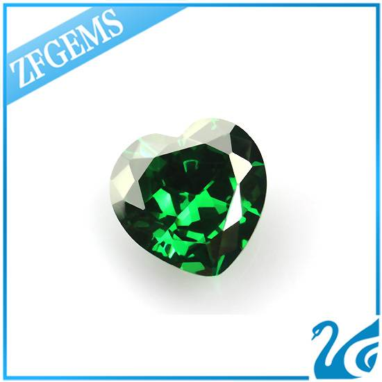european machine cut emerald heart shape cz synthetic diamond price per carat