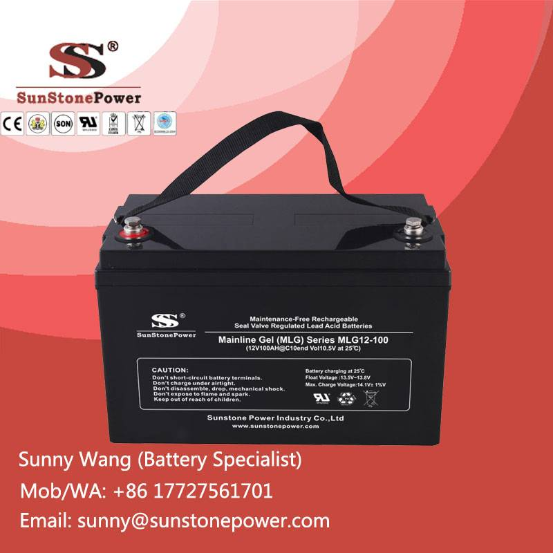 Deep Cycle Solar Battery 12v 100ah Rechargeable Lead Acid Gel Batteries