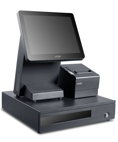 "12.1"" Capactive Touch / Two Touch POS system TD2-C1+ with 80mm POS thermal printer rp80/Dual Screen"