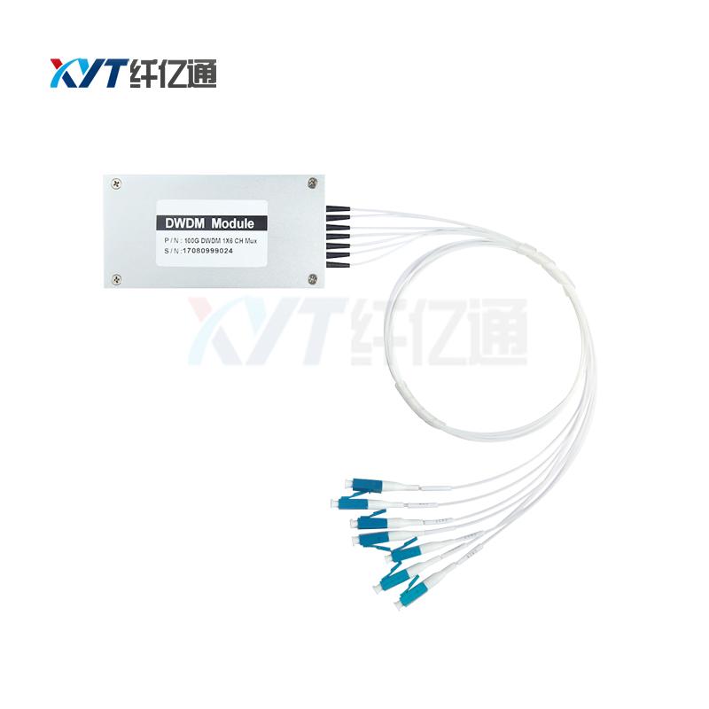 8 channel DWDM multiplexer plastic ABS box type C&L band C21-C60 channel DWDM MUX/DEMUX for EDFA app