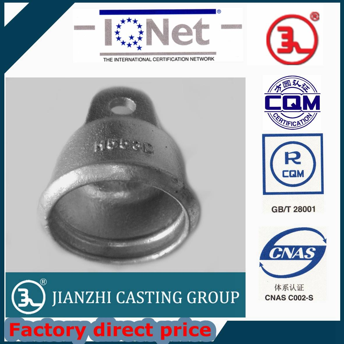 Tongue & Clevis type ductile Iron Disc Insulator caps