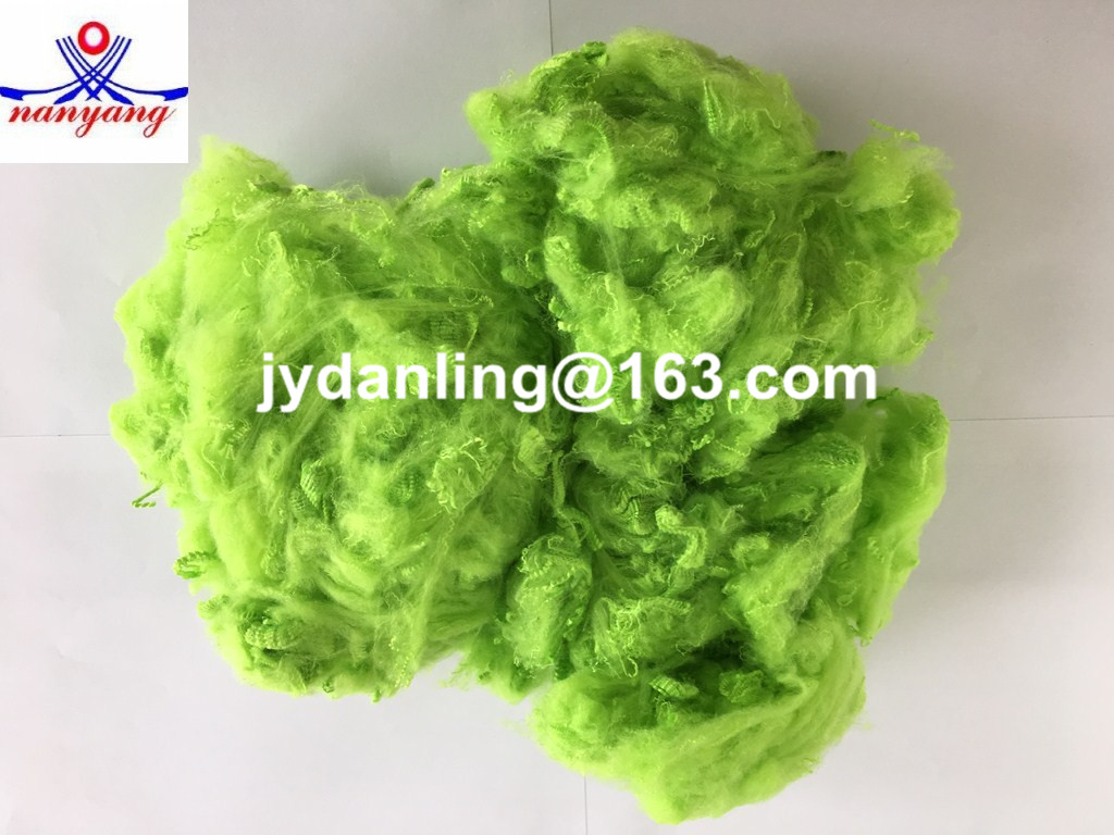 L-Green Dope Dyed Polyester Staple Fiber (PSF)