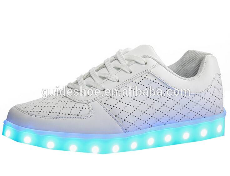 GD top design promotional LED USB charge strip flashing light shoes