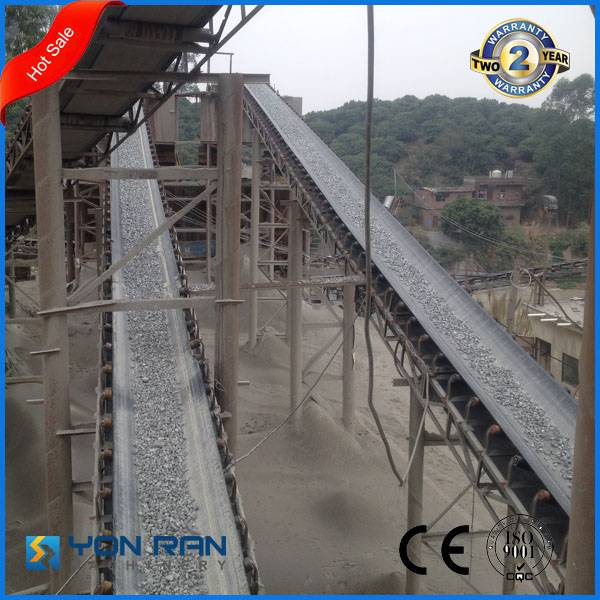 Guangzhou iron ore stone crushing plant rubber conveyor belt for mining process