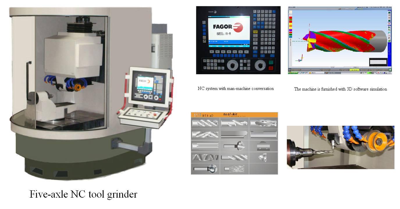 Five-axle special tool grinder