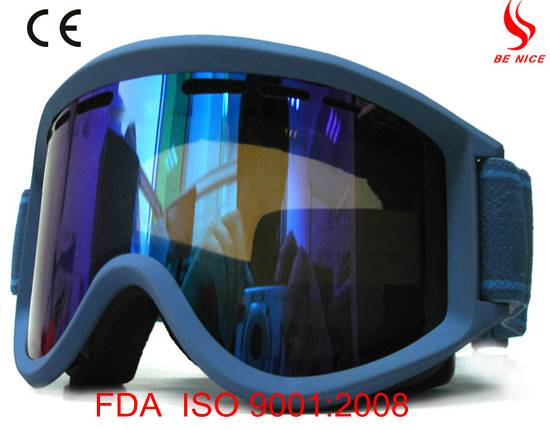 High quality cheap ski goggles with anti-fog UV protection lens