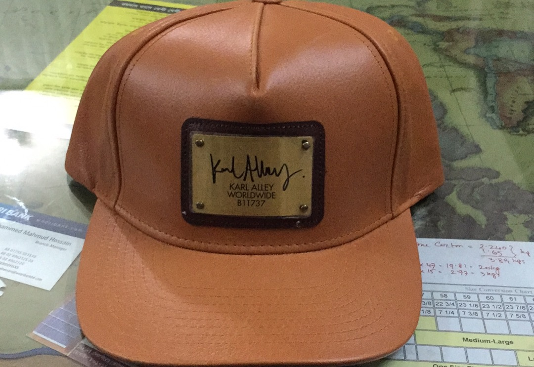 Leather snapback caps