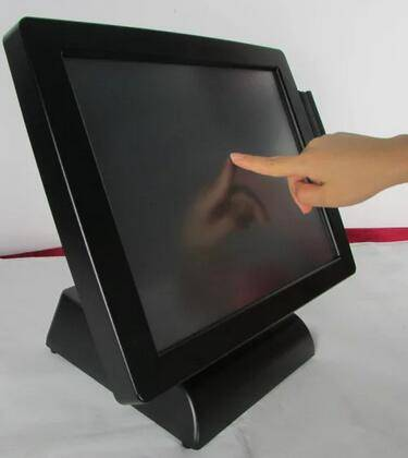 15 inch 4:3 touch screen monitor,touch screen monitor for pos VGA and DVI input,DC 12V input ,USB co