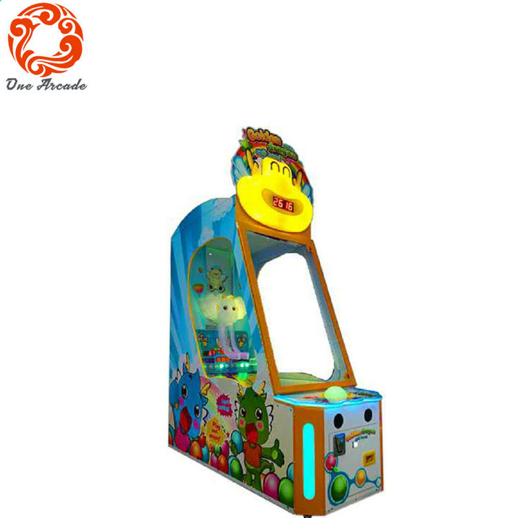 2017 newest coin operated kids game machine Golden Gragon Spit Bead