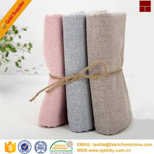 high quality cotton linen fabric for clothing dress