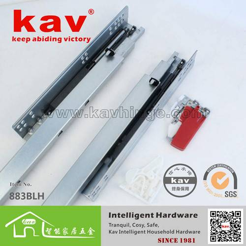 45mm concealed soft close drawer slides rail
