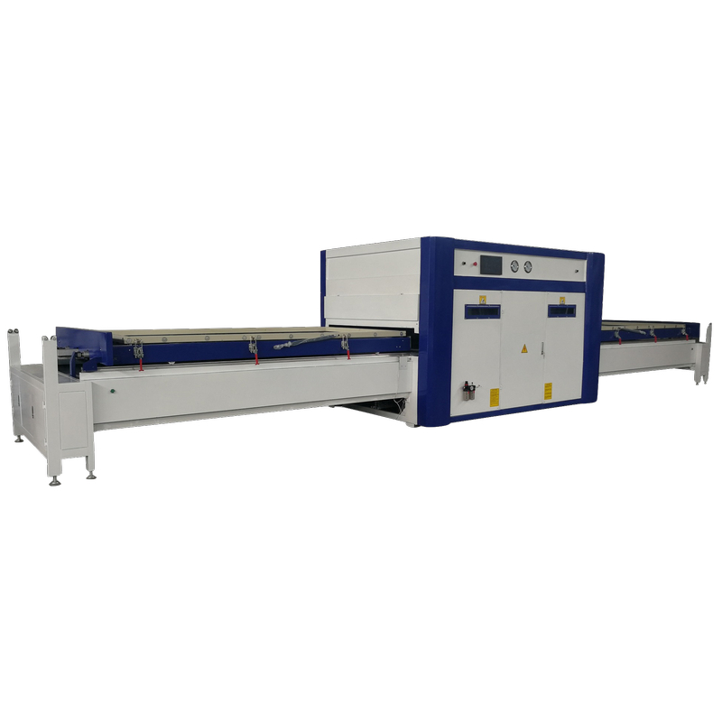 TM2480E woodworking double table fully automatic vacuum membrane press machine high glossy pvc film