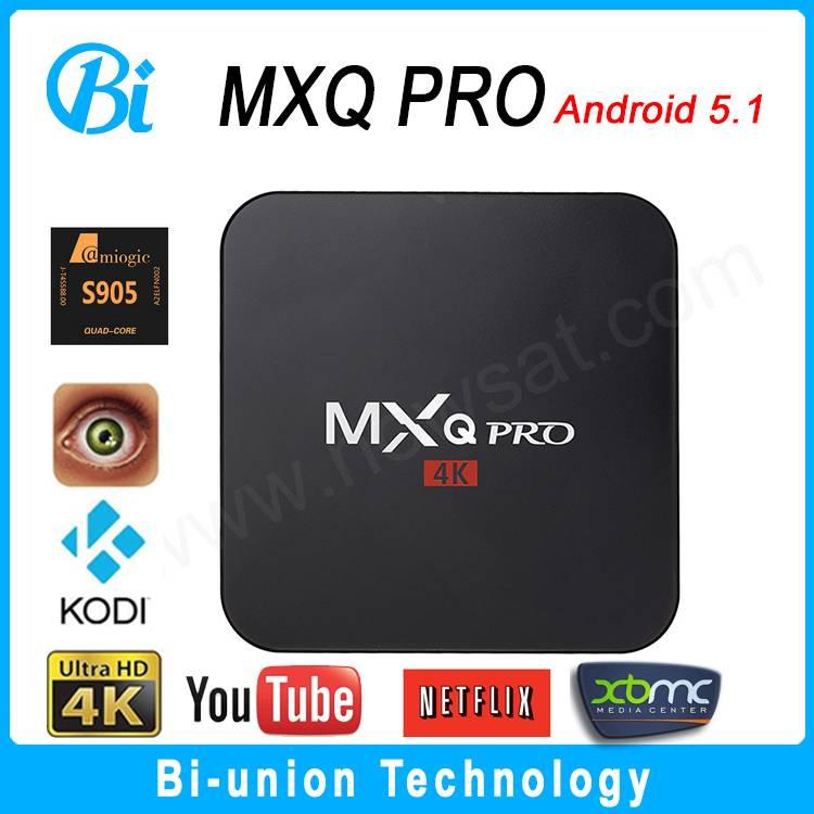 MXQ PRO android tv box s905 1+8g 4k ott tv box KODI 16.0 android smart tv box