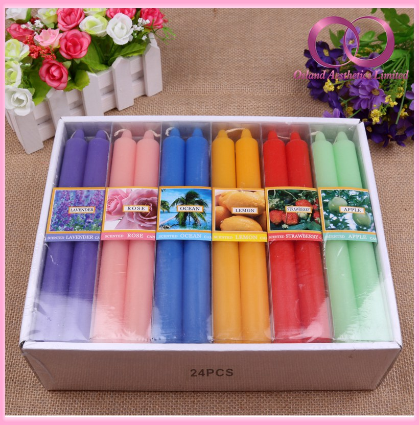 Multi Color Scented Plain Stick Candles