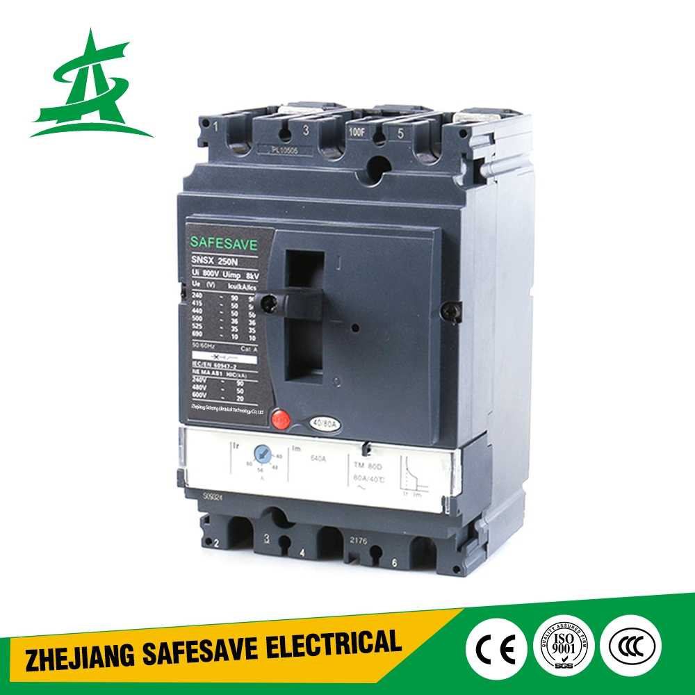 New design 50/60hz widely used energy conservation easy control case circuit breaker