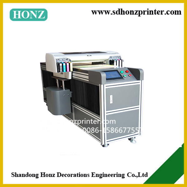glass metal ceramic crystal UV flatbed printer with A2 size 8 color UV ink