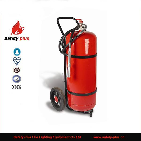 50kg abc powder trolley fire extinguisher